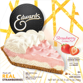 Edwards Strawberry Creme Pie With A Cookie Crust