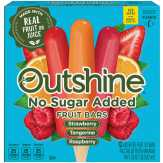 Edy's  Outshine Fruit Bars No Sugar Added Strawberry, Raspberry And Tangerine - 12 Ct