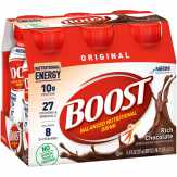 Boost  Original Complete Nutritional Drink Rich Chocolate - 6 Pk
