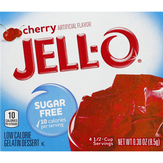 Jell-o Cherry, Sugar Free, Low Calorie Gel...