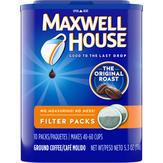 Maxwell House  Filter Packs Ground Coffee Original Medium Roast - 10 Ct