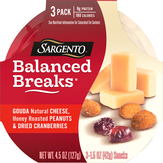 Sargento Gouda Cheese, Honey Roasted Peanuts, And Dried Cranberries Balanced Breaks