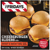 T.g.i. Friday's  Anytime! Sliders Friday's Cheeseburger With Sweet & Smokey Bbq Sauce - 4 Ct