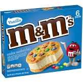 M&m's  Vanilla Ice Cream Cookie Sandwich Reduced Fat