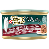 Purina  Shredded Wild Salmon Fare Fancy Feast Elegant Medleys Gourmet Cat Food