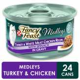 Purina  Turkey & White Meat Chicken Fancy Feast Elegant Medleys Gourmet Cat Food