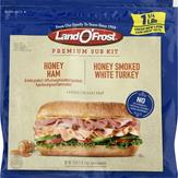 Land O'frost Sub Sandwich Kit Honey Ham And Honey Smoked White Turkey Sub Sandwich Kit