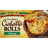 New York Olde World Ciabatta With Real Cheese Rolls