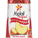 Yoplait Original Harvest Peach Yo