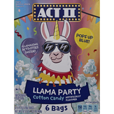 Act Ii Microwave Popcorn, Cotton Candy, Llama Party