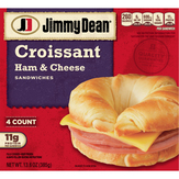 Jimmy Dean  Croissant Sandwiches Ham & Cheese - 4 Ct