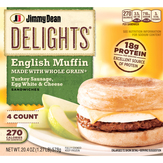 Jimmy Dean  Delights Turkey Sausage, Egg White & Cheese Muffin - 4 Ct