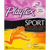 Playtex Sport Fresh Balance Regular Lightly..., Box