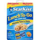 Starkist Albacore Tuna In Water Lunch To-go