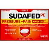 Sudafed  Pe Sinus Pressure + Pain + Mucus C...