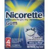 Nicorette Gun 4mg - White Ice Mint Nicorette Gum White Ice Mint 4mg