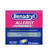 Benadryl  Allergy Liqui-gels - 24 Ct