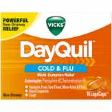 Vicks  Multi-symptom Relief Liquicaps Day...