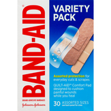 Band-aid  Variety Pack Bandages Assorted Siz...