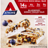 Atkins  Blueberry Greek Yogurt Bar - 5 Ct