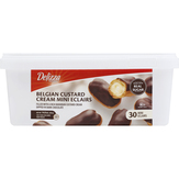 Delizza Patisserie  Belgian Mini Eclairs- 30 Ct