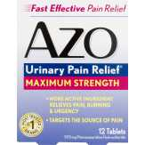 Azo Azo Urinary Pain Relief Maximum Strength - 12 Ct