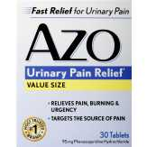 Azo Azo Urinary Pain Relief Value Size..., BOX