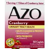 Azo Azo Cranberry Urinary Tract Health Supplement - 50 Ct
