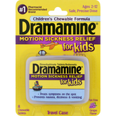 Dramamine  Motion Sickness Relief For Kids Chewable Tablets Grape Flavor - 8 Ct
