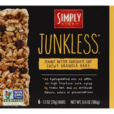 Junkless Peanut Butter Chocolate Chip Chewy Granola Bars