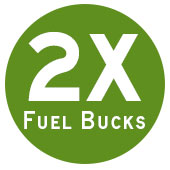 Earn 2x Fuel Bucks with the purchase of select shopping and dining cards. Earn 2x Fuel Bucks for every $50 in qualifying gift cards purchased in a single transaction.
