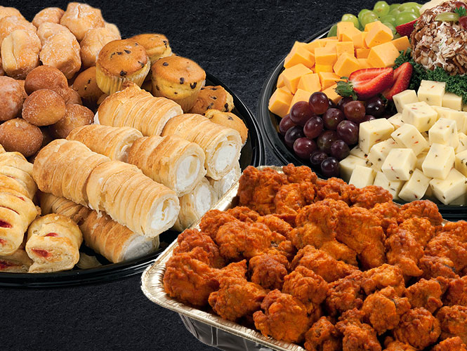 Holiday Party Trays, prepared fresh to order from Food City, are a delicious and crowd-pleasing addition to any special event.