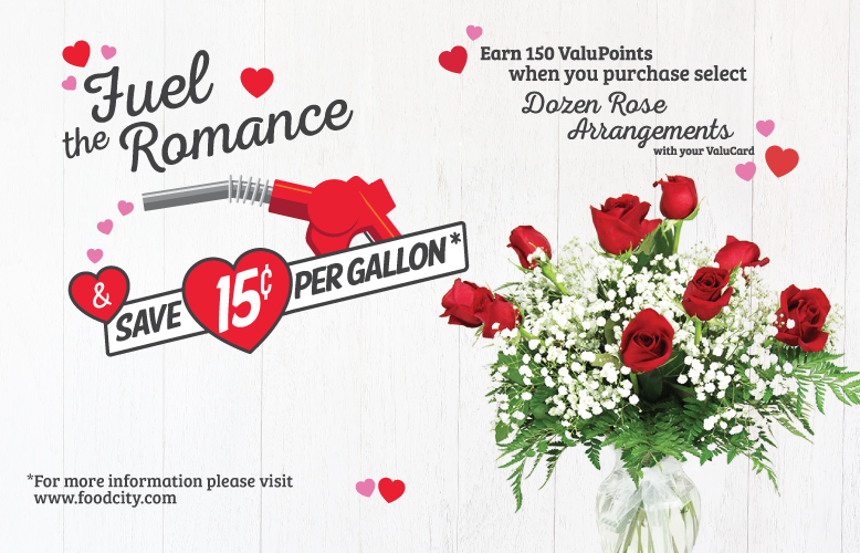 Fuel Your Romance with 150 Bonus ValuPoints