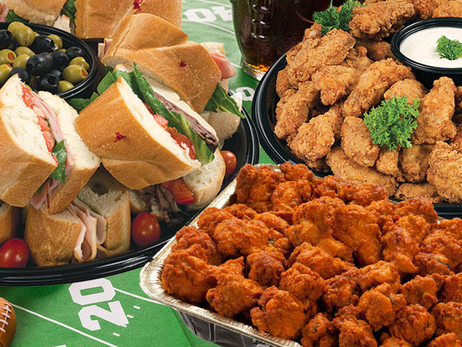 Trust Food City for tremendous tailgating options with our custom made to order party trays, cakes, chicken, sandwiches and more. Orer online today to make your get together one of a kind.