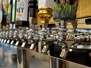 Offering a large selection of craft beer, micro-brews and ciders fresh out of the tap, just as the brewmaster intended.