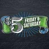 When you see the $5 Friday 7 Saturday sign you know you are going to save BIG at Food City! Selected items throughout the store are only $5 while supplies last. Better get here early because these deals won't last.