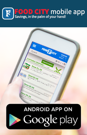 Saving is easy with the NEW Food City Grocery Mobile App for Android. Shop, clip digital coupons from the app and more. Download it today.