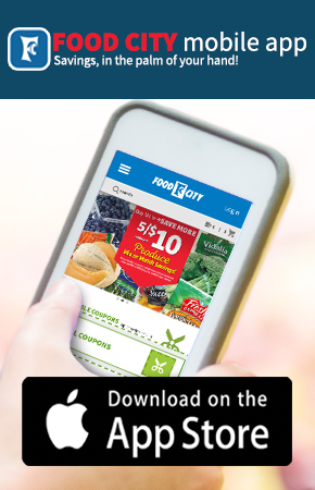 Saving is easy with the NEW Food City Grocery Mobile App for Apple. Shop, clip digital coupons from the app and more. Download it today for iOS.