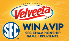 Enter for your chance to WIN a VIP trip for 4 to the 2018 SEC Championship Game in Atlanta, GA & awesome instant win prizes.