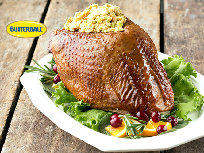 Order your fully prepared, delicately seasoned and oven roasted Butterball turkey breast dinner and all the trimmings today from your local Food City Bakery/deli or online at any time.