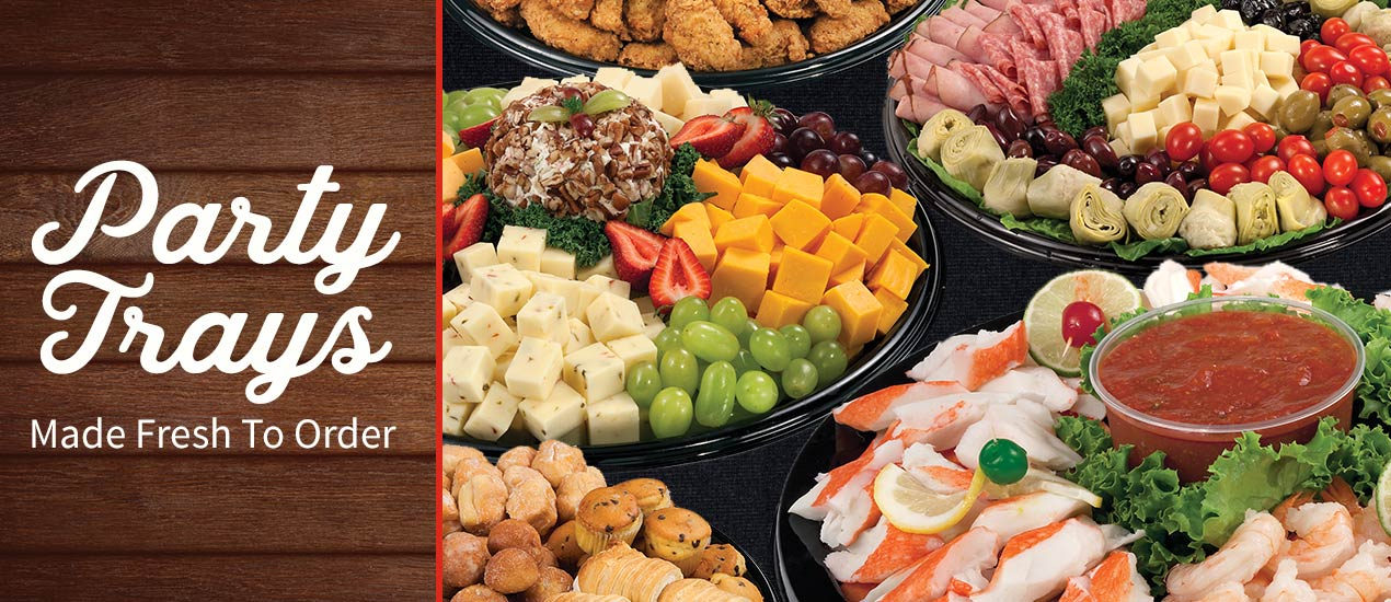 When it is time to celebrate Food City's fresh made to order party trays can help you solve your party-planning predicament.  Food City has a tasteful solution for any occasion. Order hot or cold appetizers, party trays, snacks, and deli platters for your next get together.