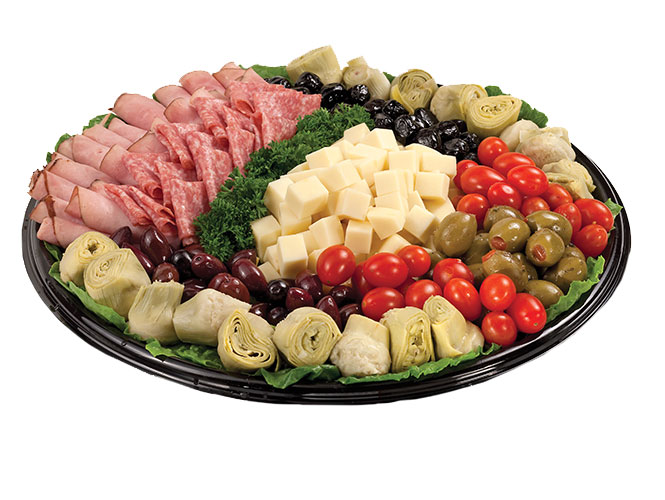 Our Antipasta Deluxe platter is a colorful celebration of cheese, meat and vegtables that will be a crowd pleaser at your next event. Order your party tray today from the Food City Deli.