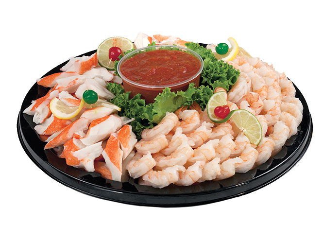 If your party needs a little taste of the ocean, the try the fresh shrimp and crab tray from Food City.