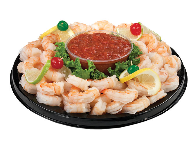 For your next party or holiday event delight your guests with this premium shrimp tray served with our own tangy cocktail sauce. Made to order with the freshest seafood available at Food City.