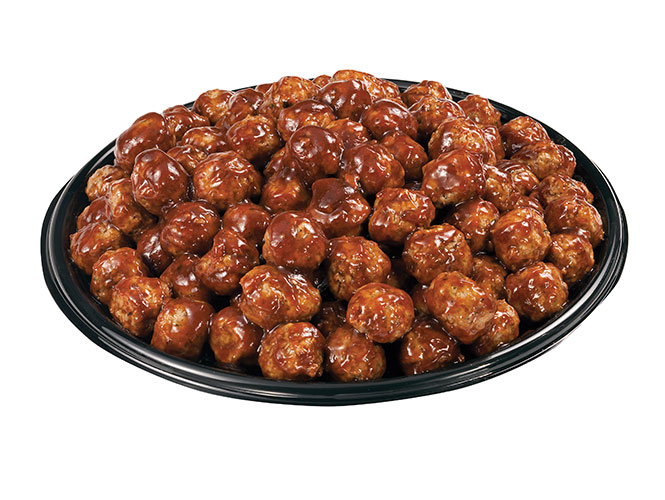 Thrill your crew with a savory platter of bite size meatballs hand tossed in a tangy house specialty barbecue sauce. Order your meatball party tray from Food City today.