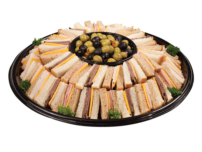 If you have a house full of friends, fanatic tailgaters or a couple of hungry teenagers, this party tray of made fresh sandwiches with ham, roast beef and turkey are sure to please. Order yours today from the Food City Bakery-Deli.