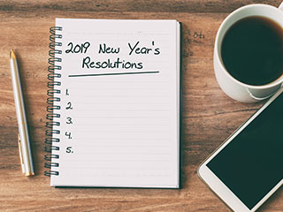 The end of the year and the start of a new one brings a time of reflection leading to the development of New Year's resolutions. It is estimated that just 8% of individuals who make resolutions actually keep them.
