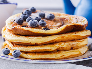 National Blueberry Pancake Day is January 28! Blueberry pancakes are a wonderful treat to enjoy anytime of the day.
