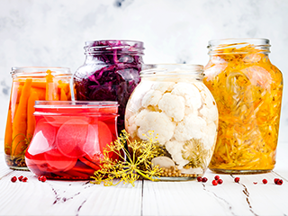 The fermentation process keeps foods from going bad by slowing the decomposition of fruits and vegetables while imparting foods with a uniquely satisfying texture and delicious flavor.