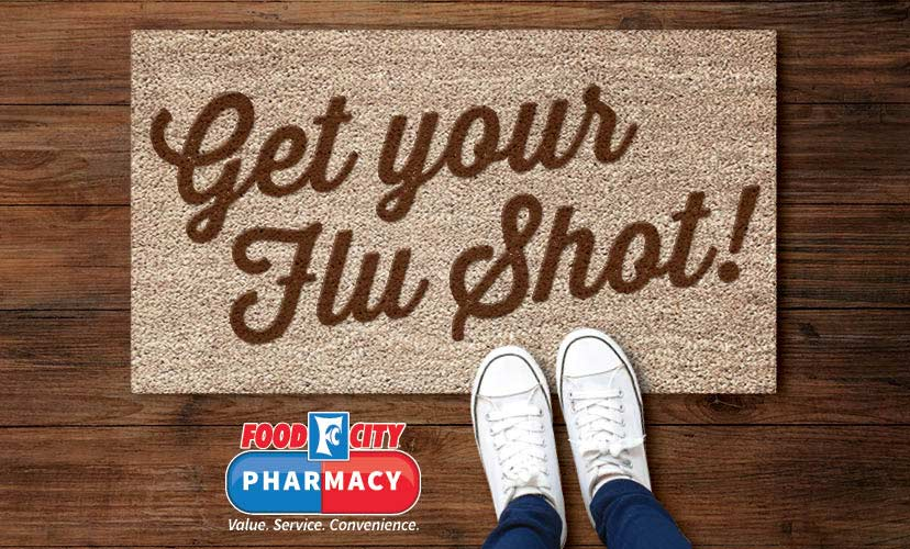 Flu Shots are now available at your local Food City Pharacy.